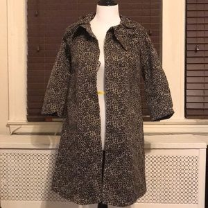 Jackets & Blazers - Leopard Trench Coat US 4
